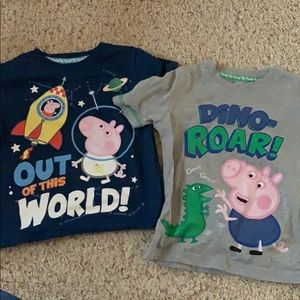 Peppa Pig George Pig 2 Tshirts